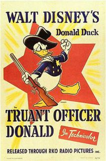 Affiche Poster donald garde champetre truant officer disney