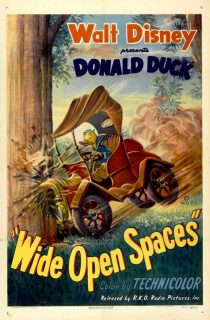 Affiche Poster donald grands espaces wide open spaces disney