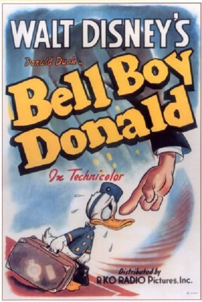 Affiche Poster donald portier groom hotel bell boy disney