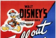 Affiche Poster donald gauche droite fall out in disney