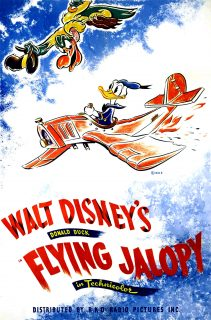 Affiche Poster machine volante donald flying jalopy disney