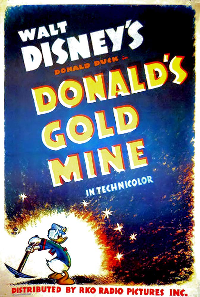 Affiche Poster mine or donald gold mine disney