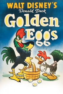 Affiche Poster poule oeufs or golden eggs donald disney