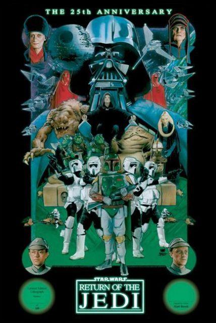 Affiche poster star wars retour return jedi disney lucasfilm