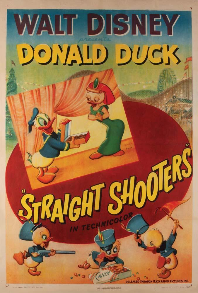 Affiche Poster straight shooters disney donald
