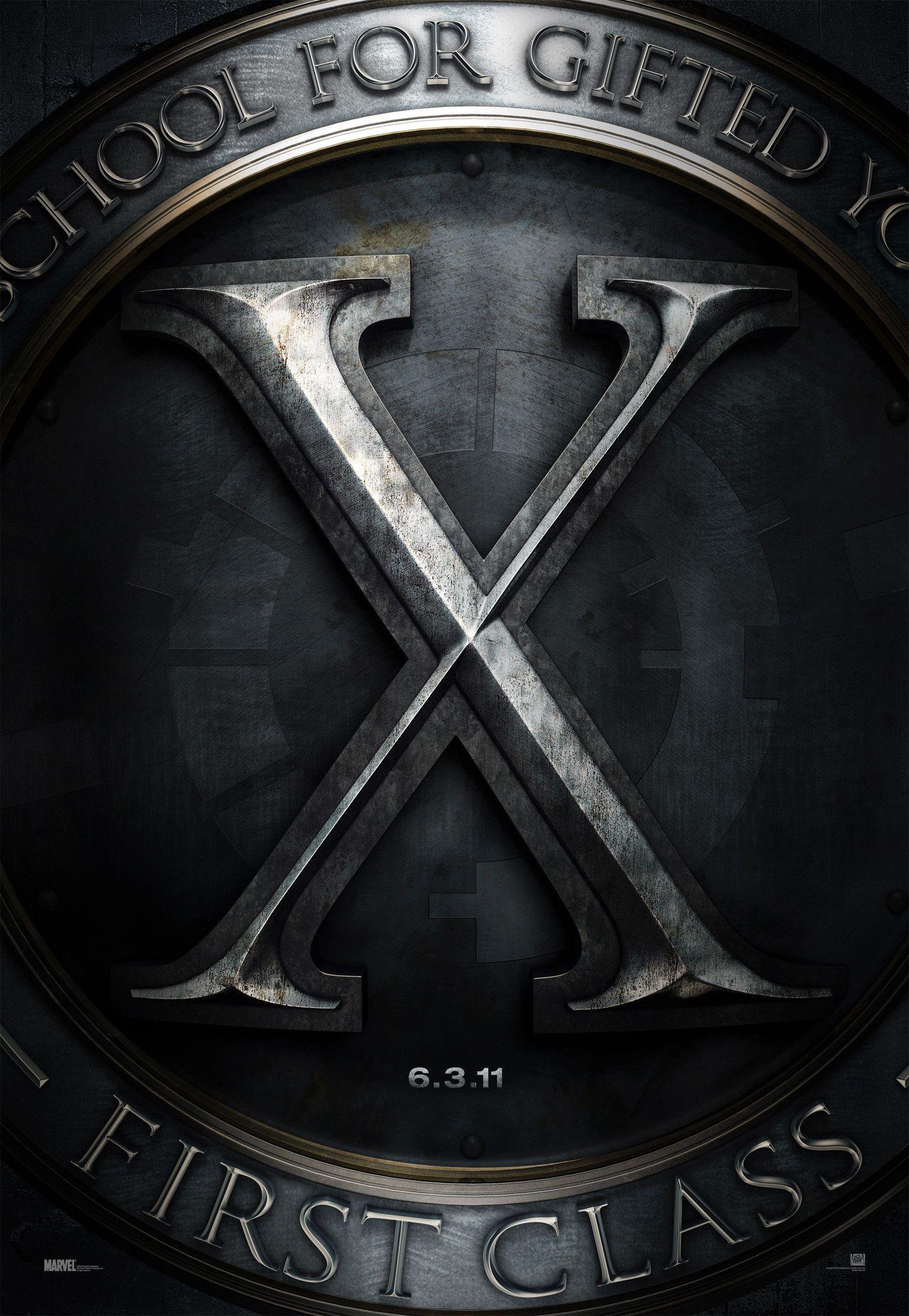Affiche Poster x-men first class commencement disney marvel fox