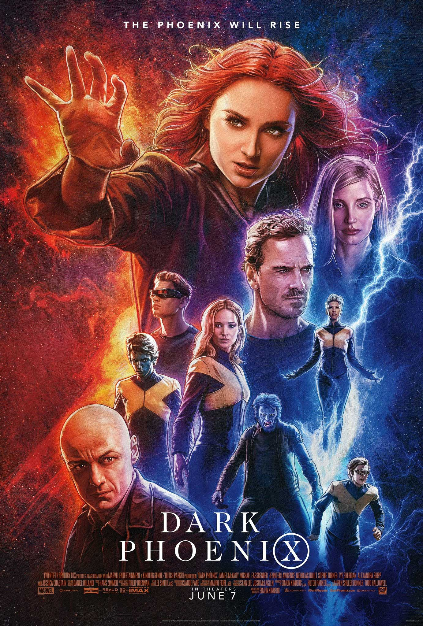 Affiche poster x men dark phoenix disney marvel fox