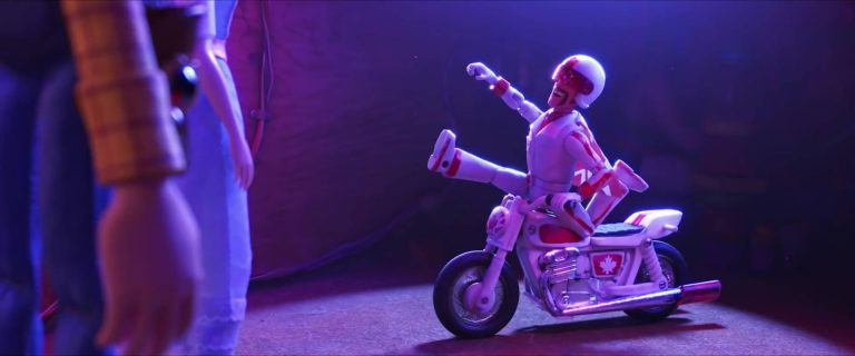 "Duke Caboom, personnage dans ""Toy Story 4""."