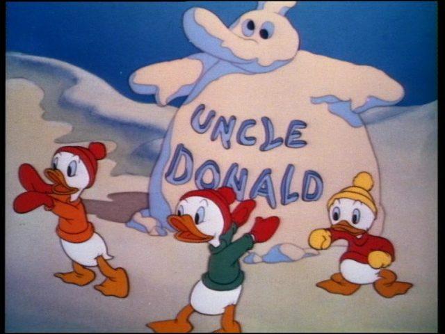 image donald bagarreur snow fight disney