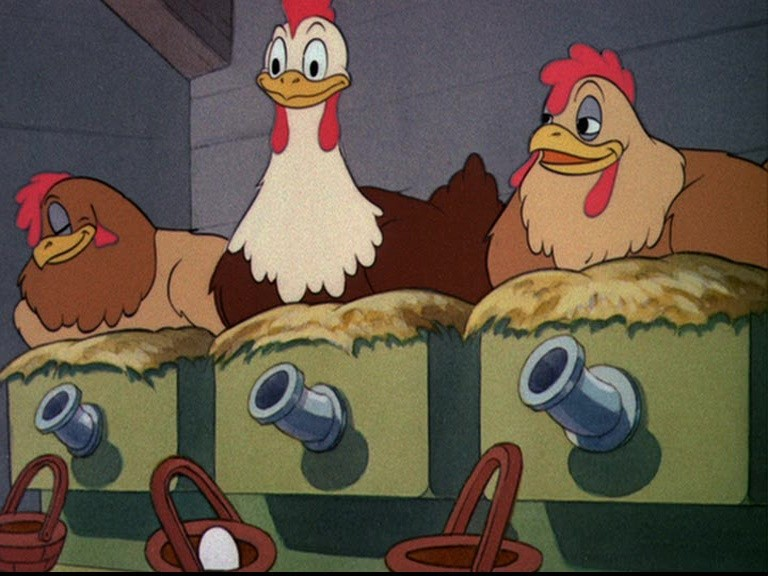 image poule oeufs or golden eggs donald disney