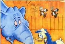 Affiche Poster cacahuetes donald working peanuts disney