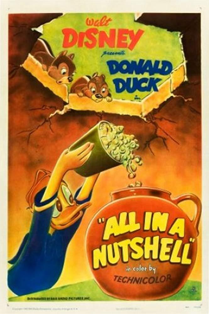 Affiche Poster donald beurre nutshell disney