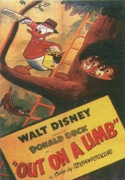 Affiche Poster donald blagueur out limb disney