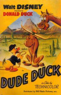 Affiche Poster donald cheval dude duck disney