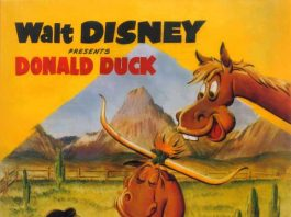 Affiche Poster donald cheval dude duck disney
