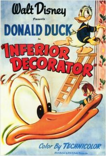 Affiche Poster donald décorateur inferior decorator disney