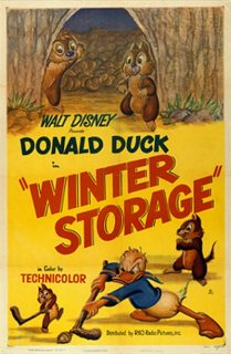 Affiche Poster donald forestier winter storage disney