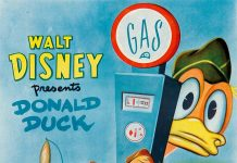 Affiche Poster donald gagne gros lot lucky numer disney