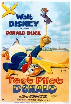 Affiche Poster donald pilote essai test disney