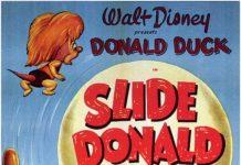 Affiche Poster slide donald disney