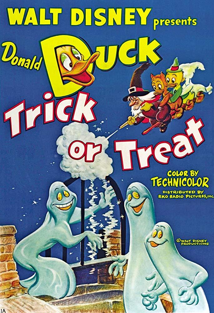 Affiche Poster donald sorcière trick treat disney