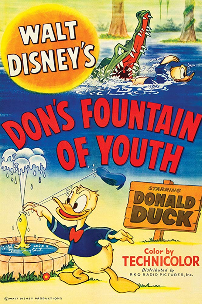 Affiche Poster donald fontaine jouvence fountain youth disney