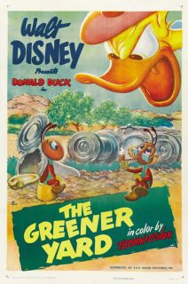 Affiche Poster donald jardin yard paradisiaque greener disney