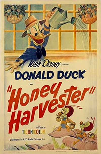 Affiche Poster miel donald honey harvester disney