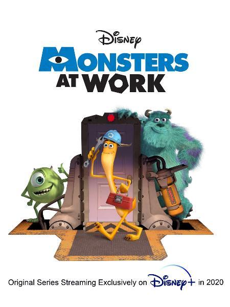 """""""Monsters at work"""" : première affiche de la série."""