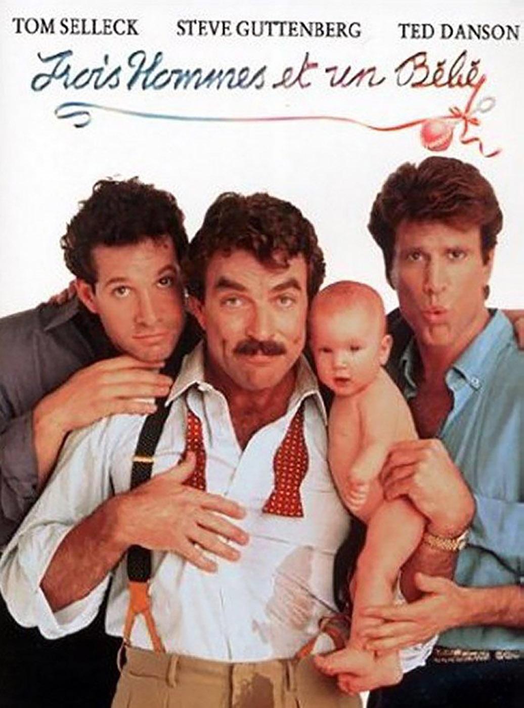 Affiche Poster trois hommes bébé three men baby disney touchstone