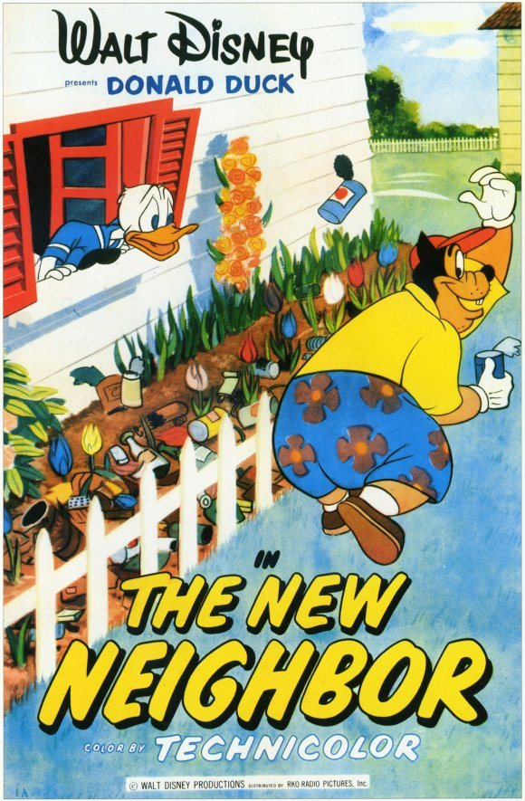 Affiche Poster voisin donald new neighboor disney