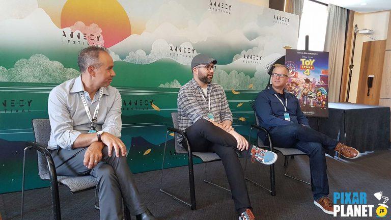 """Rencontre avec l'équipe de """"Toy Story 4"""" au Festival d'Annecy."""