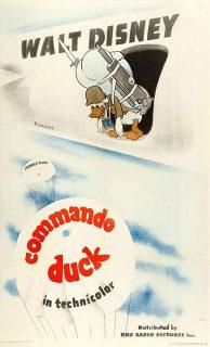 Affiche Poster donald commando duck disney