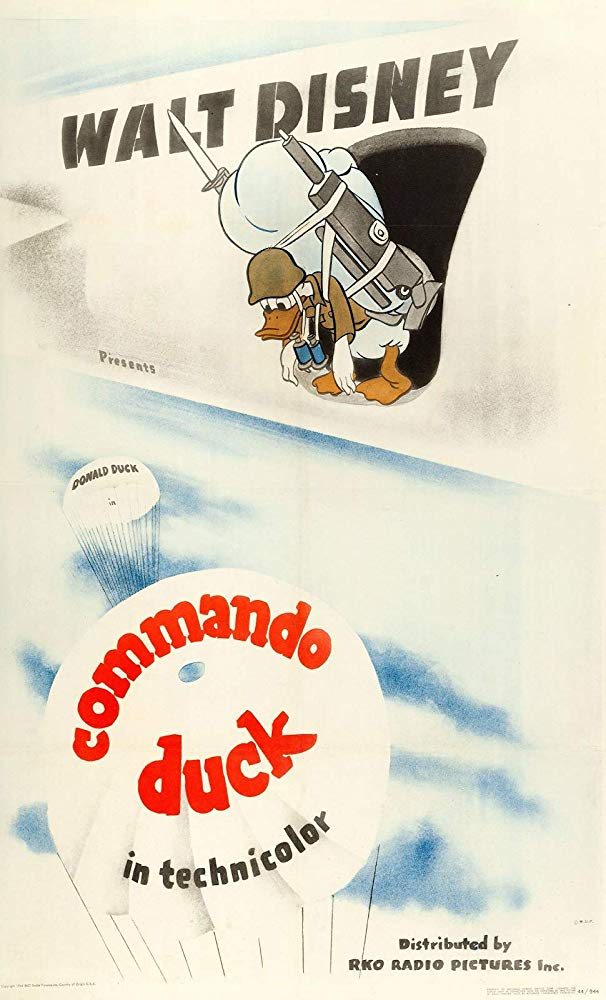 Affiche Poster donald commando duck disney