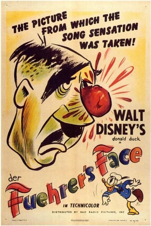 affiche poster der fuehrer face disney donald