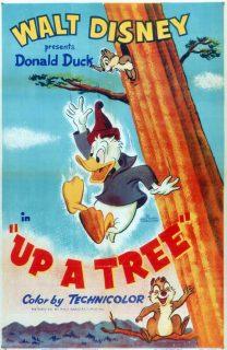 Affiche Poster donald flotteur bois up tree disney