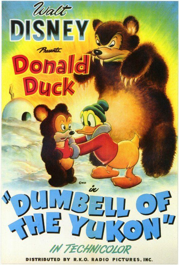 Affiche Poster donald grand nord dumbell yukon disney