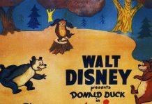 Affiche Poster donald visite parc brownstone grin bear disney