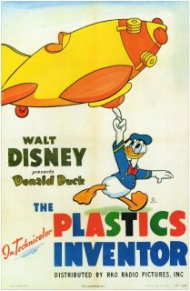 Affiche Poster inventions modernes plastic inventor disney donald