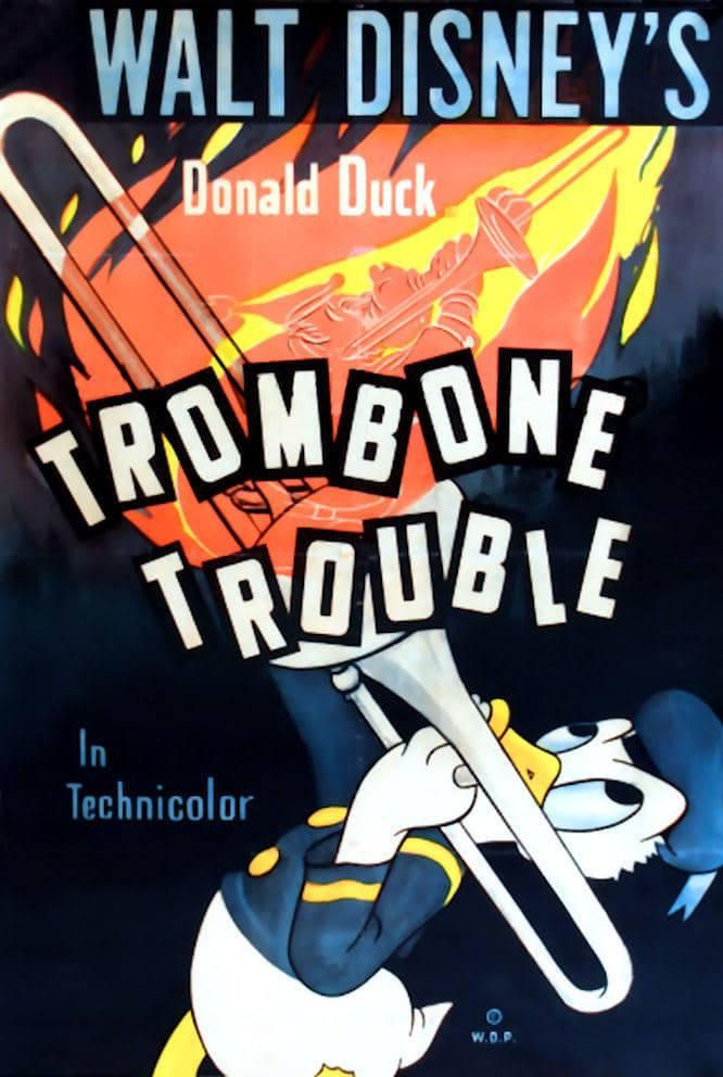 Affiche Poster donald trombone coulisse touble disney