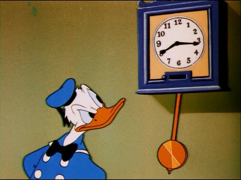 Image donald emballeur clock watcher disney