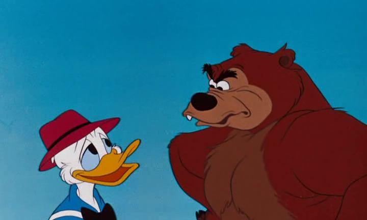 Image donald visite parc brownstone grin bear disney