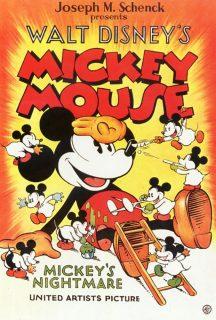 Affiche Poster mickey cauchemar nightmare disney