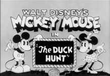 Affiche Poster chasse canard duck hunt disney mickey