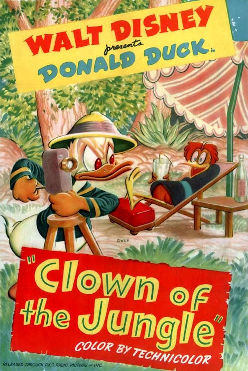Affiche Poster clown jungle donald disney