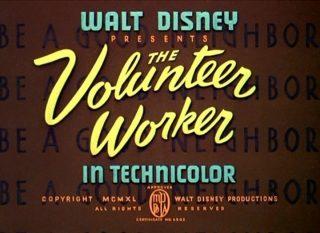 Affiche Poster donald bénévole volunteer worker disney