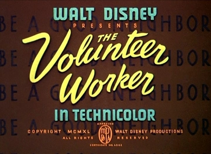 Affiche Poster donald bénévole volunteer worker disney