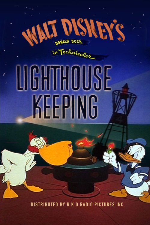 Affiche Poster donald gardien phare lightouse keeping disney