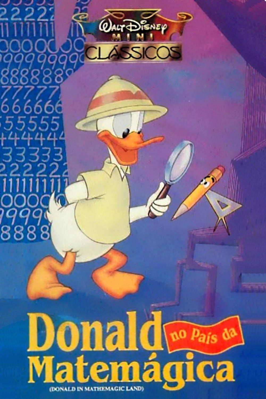 Affiche Poster donald pays mathémagiques mathmagic land disney