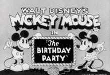 Affiche Poster gouter anniversaire birthday party mickey disney